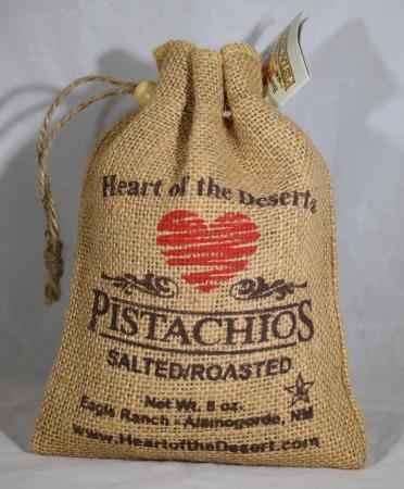 Salted And Roasted Eight Ounce Burlap Bag