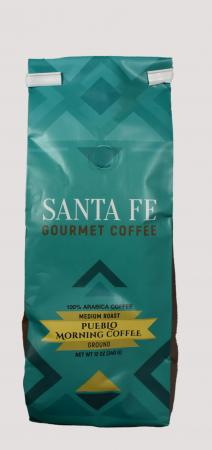 Santa Fe Gourmet Coffee Pueblo Morning Ground 12 Ounce