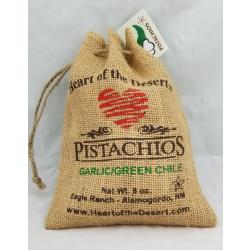 Garlic and Green Chile Eight Ounce Burlap Bag