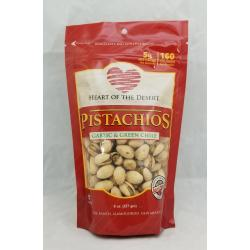Garlic and Green Chile Pistachios Eight Ounce Bag